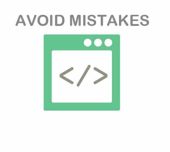 avoid mistakes